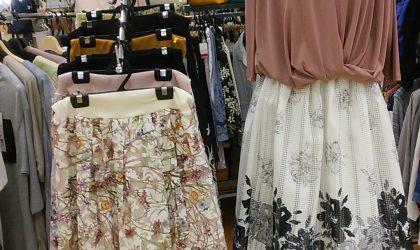 この春人気の花柄プリントや刺繍スカート揃っています♪♪