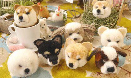 毛糸を巻いて作る 犬ぽんぽん・動物ぽんぽん店頭デモのお知らせ