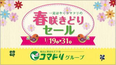 【終了しました】コマドリ全店「春咲きどりセール」1/19(土)~1/31(木)まで